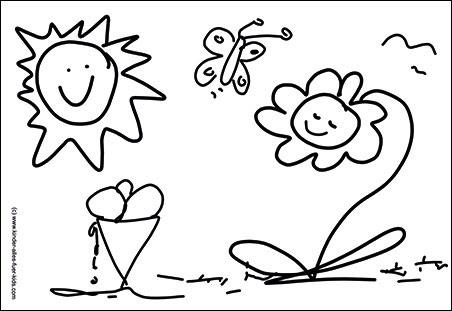 Einfache Malvorlagen Kostenlose Ausmalbilder Lustige Zeichnungen